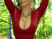 tight-red-catsuit-008