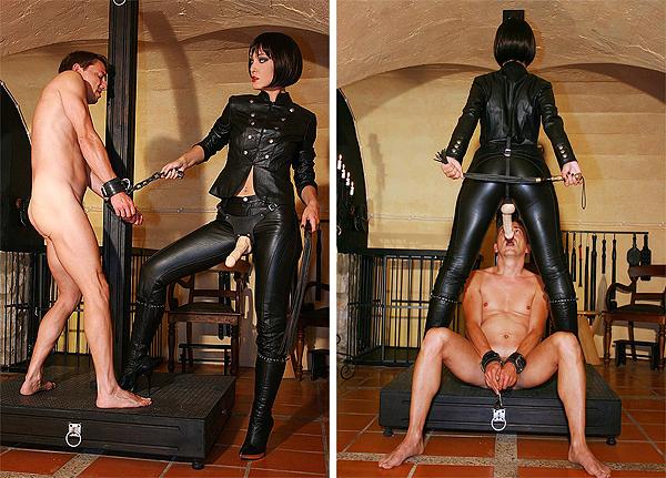Brutal Leather Femdom Bdsm Handjobs